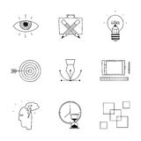 Hand drawn doodle sketch creative design process Stock Photography