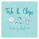 Hand Drawn Seafood illustration. Hand Drawn Doodle Sketch Seafood illustration. Nautical background for seafood or fish restaurants, bars, markets or festivals Royalty Free Stock Images