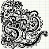 Hand-Drawn Doodle Swirls Vector Stock Images