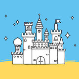 Hand drawn doodle vector castle Stock Photos