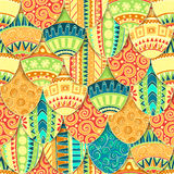 Hand-drawn doodle vector Easter seamless pattern Royalty Free Stock Photos