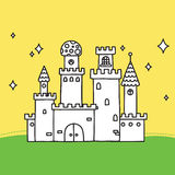 Hand drawn doodle vector magic castle Stock Photography