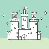 Hand drawn doodle vector medium castle Stock Photos