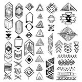 Hand drawn doodle vector native american symbols set Stock Photos