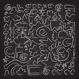 Hand drawn doodle vector objects Royalty Free Stock Images