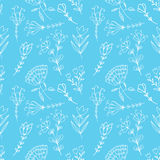 Hand drawn doodle vintage floral seamless pattern for scrapbooking Royalty Free Stock Photo