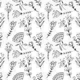 Hand drawn doodle vintage floral seamless pattern for scrapbooking Royalty Free Stock Photography