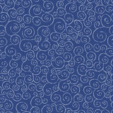 Hand drawn doodle waves, vector seamless pattern. Royalty Free Stock Photography