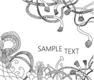 Hand-drawn doodle zentangle. Black and white hand-drawn doodle zentangle Royalty Free Stock Image