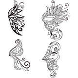 Hand drawn doodled wings Royalty Free Stock Image