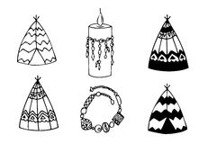 Hand drawn doodles boho Royalty Free Stock Photos