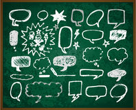 Hand-drawn doodles on green school board Royalty Free Stock Photography