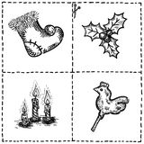 Hand drawn doodles of holiday Royalty Free Stock Images
