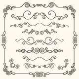 Hand-drawn doodles   line border set Royalty Free Stock Photos