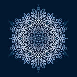 Hand-drawn doodles snowflake, metallic color gradient. Royalty Free Stock Photography