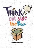 Hand drawn doodles,think out side the box concept Royalty Free Stock Photos
