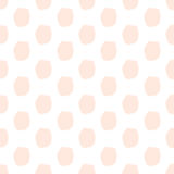 Hand-drawn dots seamless pattern. Pastel pink color. Light and gentle Royalty Free Stock Photos