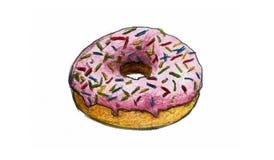 Hand Drawn Doughnut Stock Image