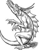 Hand Drawn Dragon Royalty Free Stock Image