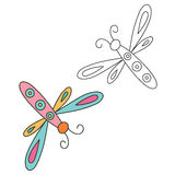 Hand drawn dragonfly. Vector illustration Royalty Free Stock Photography