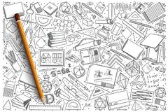Hand drawn Drawing vector doodle set. Background Royalty Free Stock Photos