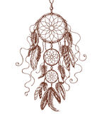 Hand Drawn Dream Catcher. Royalty Free Stock Image