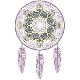 Hand-drawn Dream Catcher, Protection, American Indians Stock Images