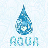 hand drawn drop of water Royalty Free Stock Images