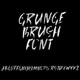 Hand drawn dry brush font. Modern brush lettering. Grunge style alphabet. Vector illustration. Stock Photography