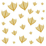 Hand drawn duck steps pattern on white background. Vector illustration Royalty Free Stock Photography