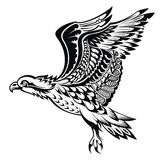 Hand Drawn Eagle.Tattoo bird Stock Photos