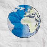 Hand drawn the earth Royalty Free Stock Image