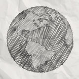 Hand drawn the earth Stock Images