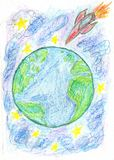 Hand Drawn Earth Stock Photography