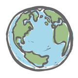 Hand drawn earth. Royalty Free Stock Photography