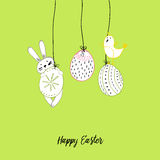 Hand drawn easter card Stock Images