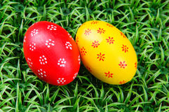 Hand-drawn Easter eggs Royalty Free Stock Photos
