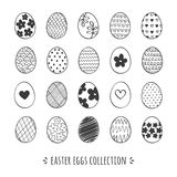 Hand drawn Easter eggs collection. Doodle easter eggs vector set. Vector elements for your design stock illustration