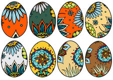 Hand drawn easter eggs Stock Photography