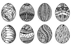 Hand drawn easter eggs Royalty Free Stock Photos