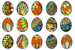 Hand drawn easter eggs Royalty Free Stock Image