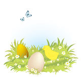 Hand-drawn easter illustration Royalty Free Stock Image
