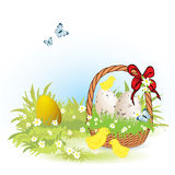 Hand-drawn easter illustration Royalty Free Stock Images
