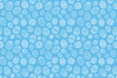 Hand drawn Easter seamless pattern. Vector illustration Stock Photos