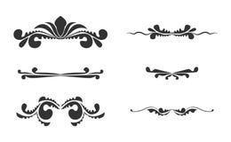 6 hand drawn ed  swirl frames Stock Images