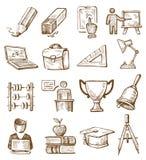Hand drawn education Stock Photos