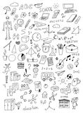 Hand drawn education vector set Royalty Free Stock Photography