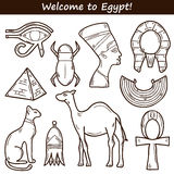 Hand drawn Egypt icons Royalty Free Stock Photo
