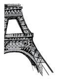 Hand drawn Eiffel tower. Paris background with hand drawn Eiffel tower Royalty Free Stock Photos