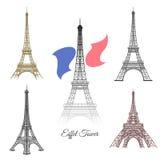 Hand drawn Eiffel Tower in Paris vector Stock Photos